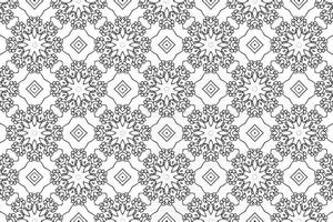 Ornament With Elements of Black and White Colors vector