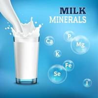 Milk Realistic Advertising Vector Illustration
