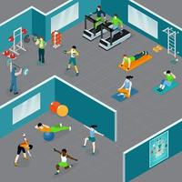 Gym Fitness Sports Composition Vector Illustration