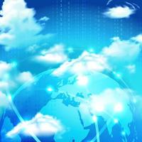 Cloud Storage Realistic Symbol Vector Illustration