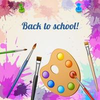 Back To School Realistic Poster Vector Illustration