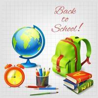Back To School Design Concept Vector Illustration