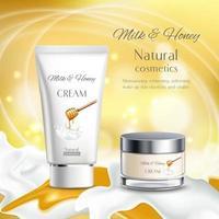 Milk Cosmetics Realistic Advertising Vector Illustration