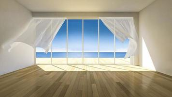 Imágenes renderizadas en 3ds de soplar ciego en una habitación en blanco video