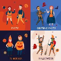 Halloween Kids Design Concept Vector Illustration