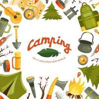 Camping Flat Illustration Vector Illustration