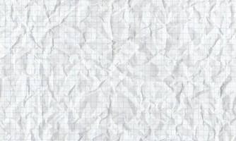 Crumpled squared paper Textured with shadows background Vector stock illustration