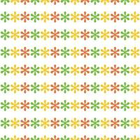 colorful seamless floral flowers pattern template vector