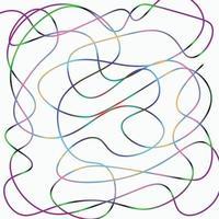 patrón de colores degradado de una línea vector