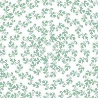 Lace Pattern green flowers vector