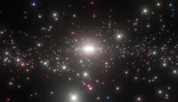 centre galactique plein d'étoiles brillantes, zoom arrière de la caméra video