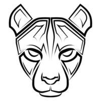 arte de línea en blanco y negro de la cabeza de guepardo buen uso del símbolo icono de la mascota avatar tatuaje diseño de camiseta logo o cualquier diseño que desee arte de línea en blanco y negro de la cabeza de guepardo buen uso del símbolo icono de mascota avatar tatuaje diseño de camiseta logo o cualquier diseño que desee vector