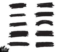 Vector ink brush grunge
