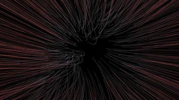 Animation of Lines Growing in The Center with Turbulence video