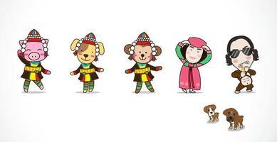 Cartoon cute character vector