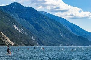 Surfing on Lake Garda photo