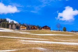 Three typical houses of Trentino photo
