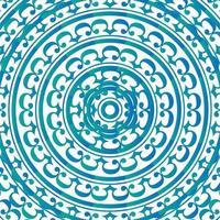 patrón de adorno de rizo azul vector