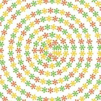 colorful floral flowers circle pattern vector