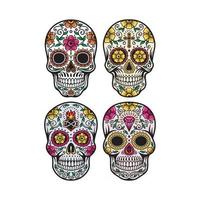 Day of the Dead Skull Vector Graphic Collection