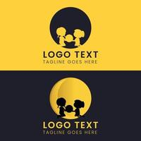 Childcare logo vector design
