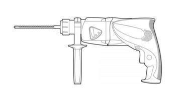 drill carpentry tool vector