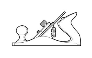 Planer hand tool vector