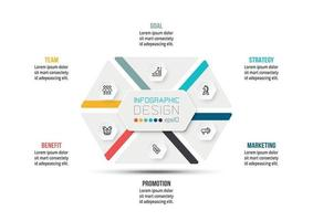 Business or marketing diagram infographic template vector