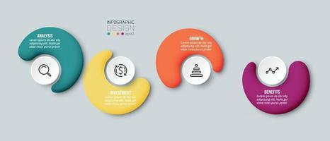 Business concept infographic template with option vector