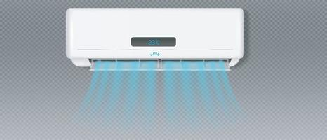 Air conditioner with cold wind effect Vector EPS 10