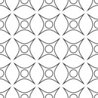 black and white seamless pattern geometric ornament vector