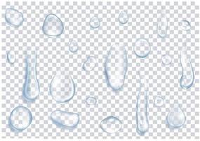 Drops of water set vector
