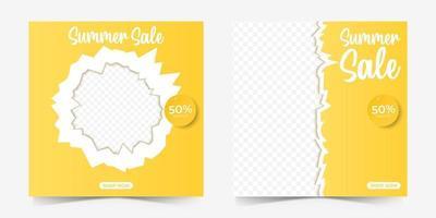summer sale social media template vector