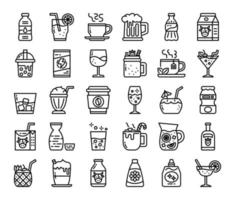Berverage Outline Vector Icons
