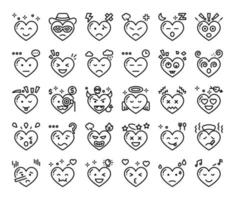 heart feeling outline vector icons