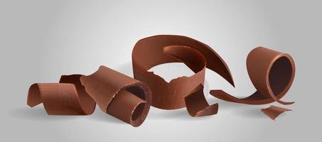 Chocolate shavings sweet food icon vector illustration