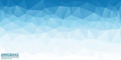 Low poly blue background banner with triangle shapes vector