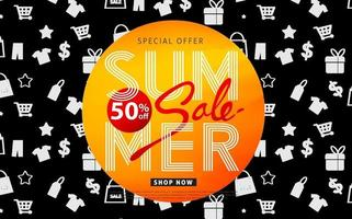 summer sale banner poster background vector