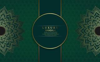 Luxury gold mandala ornate background Pro Vector