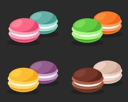 Sweet macarons set vector