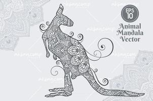 Animal mandala vector lineart style