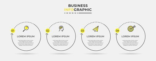 Vector Infographic design business template with icons and 4 options or steps