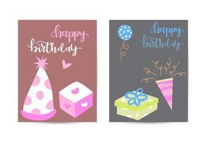 birthday greeting and invitation card vector illustration