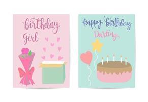 birthday greeting card template vector