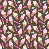 Ice creams seamless pattern eps10 vector illustration