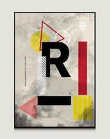 R letter design abstract background design geometric background design vector