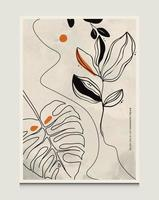 Modern Abstract Botanical Line Art Vector Illustration Background With Botanical Line Art Scene Suitable For Books Covers Brochures Flyers Social Posts Etc