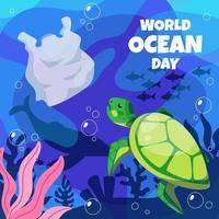 World Ocean Day vector