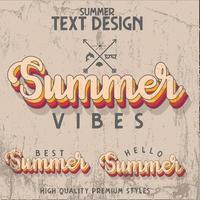 summer sale typography vector