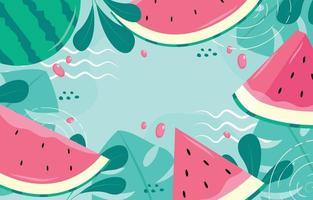Fresh Watermelon Background vector